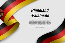 Waving Ribbon Or Banner With Flag State Of Germany