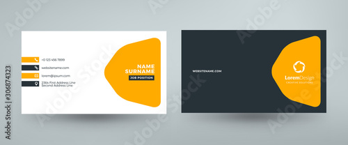 Fotomural Creative and clean corporate business card template