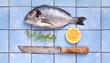 frischer leckerer Fisch mit Zitrone