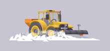 Snow Plowing Tractor. Snow Rem...