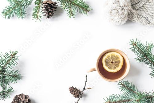 Spoed Foto op Canvas Londen Winter seasonal background