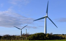 Wind Turbine On A Field In Ang...