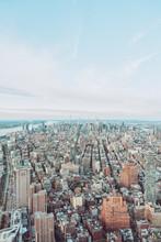 Aerial View Of Manhattan Skyscrapers, New York City