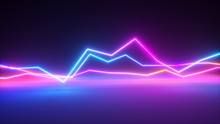 Bright Colorful Glowing Neon L...