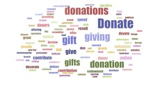 Donate Tagcloud Animated Isolated On White