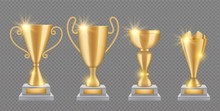 Gold Trophy. Realistic Golden ...