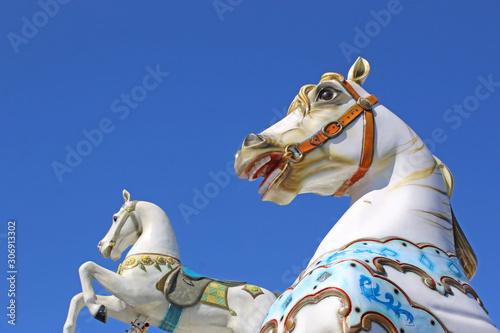 traditional merry-go-round carousel horse Tapéta, Fotótapéta