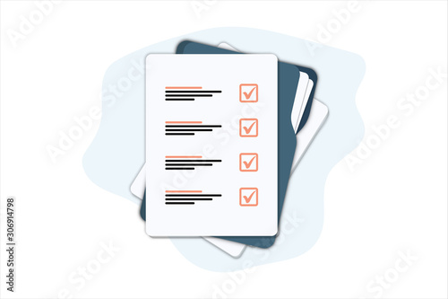Cuadros en Lienzo Documents folder with paper sheets
