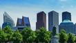canvas print picture - skyline von den Haag, stadtzentrum von den Haag Holland,