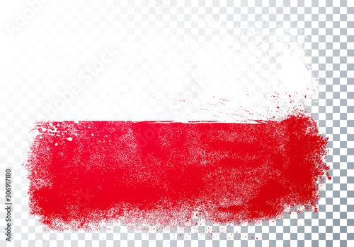 Fotomural Vector Illustration Grunge And Distressed Flag Of Poland