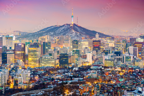 Seoul, South Korea Cityscape Wallpaper Mural