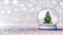 Magic Snow  Globe With Christm...