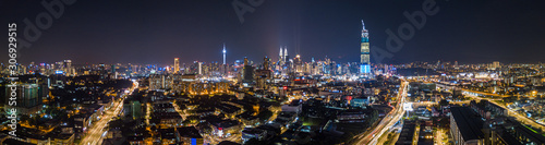 Photo Beautiful City of Kuala Lumpur panorama at night Malaysia