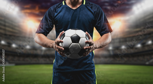 Canvas Print The concept of playing football