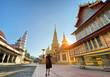 Leinwanddruck Bild Famous place must visit when travel in Lamphun Province. Wat Phra Bat Huai Tom.