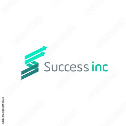 Valokuvatapetti initial S trade logo design vector