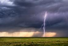 Lightning Bolt From A Thunderstorm