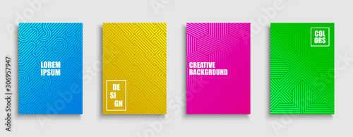 Fotografía  Abstract colorful creative striped posters, templates, placards, brochures, banners, backgrounds, flyers and etc
