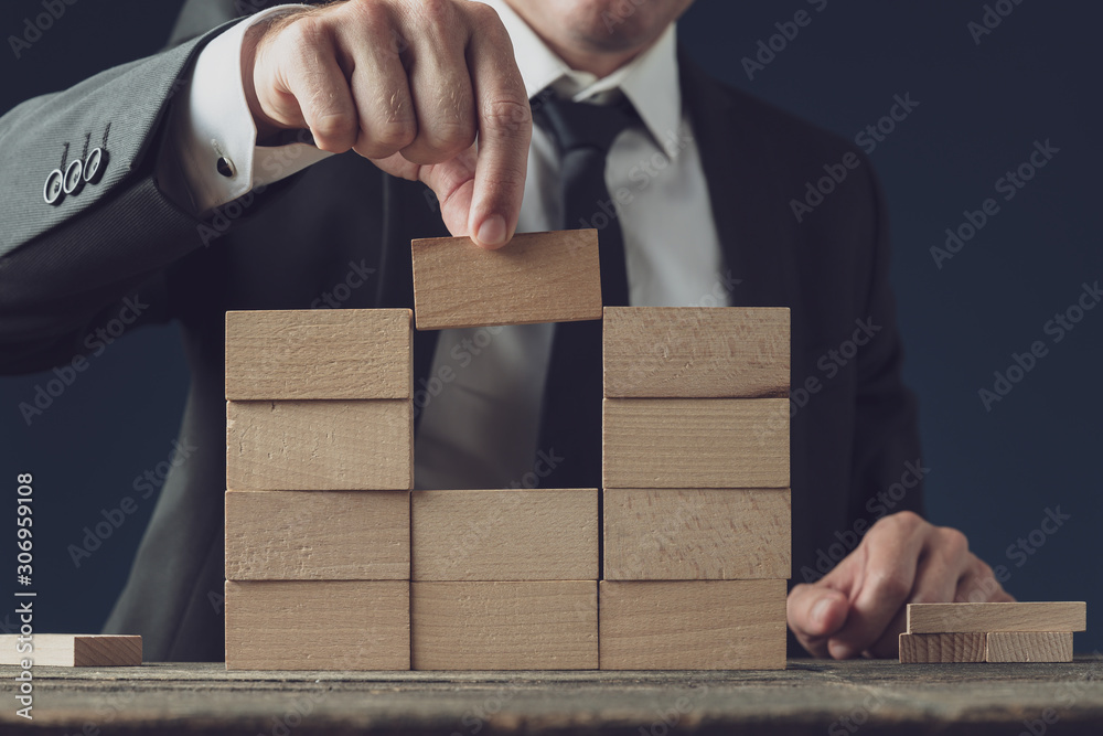 Fototapeta Business vision and start up conceptual image
