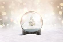 Blank Glass Snow Globe With Sn...