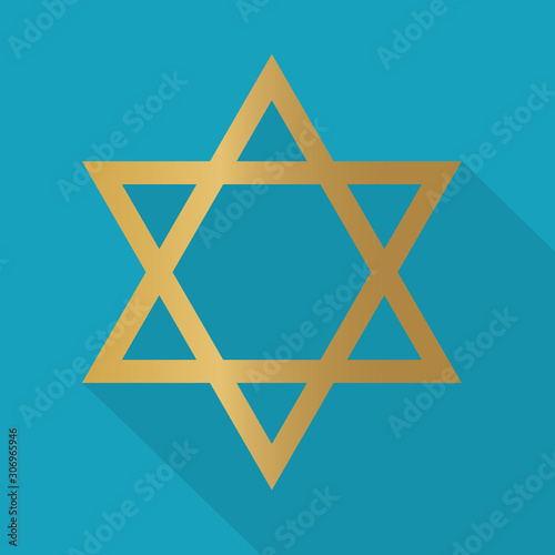 golden star of David icon- vector illustration Canvas-taulu