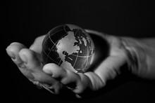 Glass Globe, Planet Earth, In ...