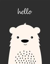 Cute Winter Card With Bear