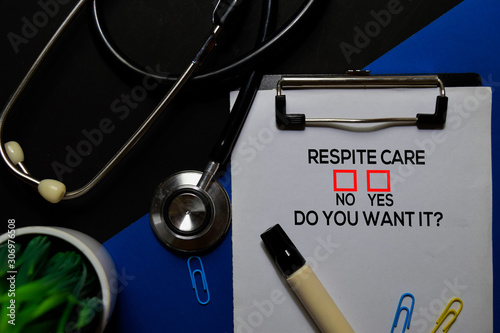 Fototapeta Respite Care, Do You Want it? Yes or No