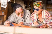Couple Of Happy Retired Caucas...