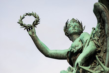 Detail Of The Monument Of Wilhelm Von Tegetthoff An Austrian Admiral In Vienna