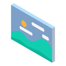Wall Picture Icon. Isometric O...