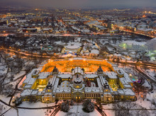 Stunning Snowy Photos From A Thermal Bath In Budsapest Downtown. Health, Relax, Spa,