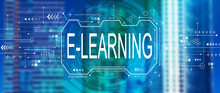 E-learning Concept With Downto...