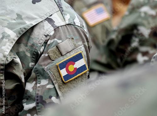 Fotografía  Flag the State of Colorado on military uniform