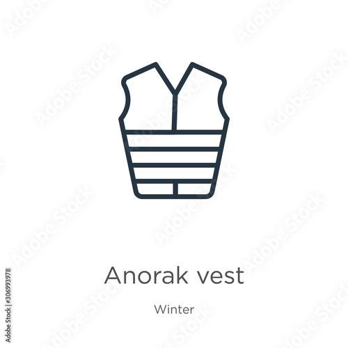 Photo Anorak vest icon