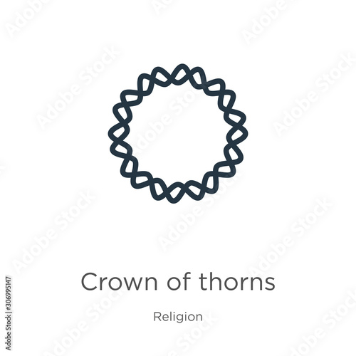 Crown of thorns icon Fototapet