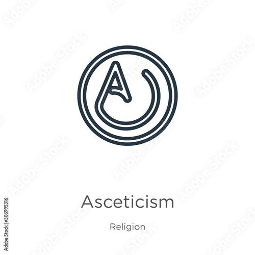 Asceticism icon Canvas Print