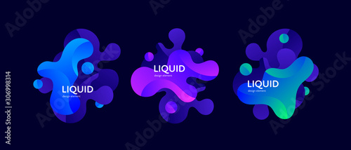 Fluid abstract banner template illustration Wallpaper Mural