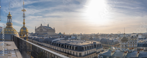 Canvas Paris, France - 11 30 2019: Boulevard Haussmann