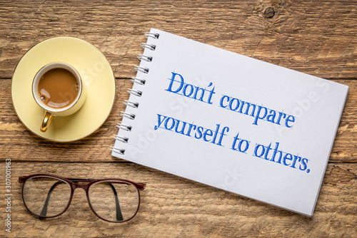 Do not compare yourself to others Canvas Print