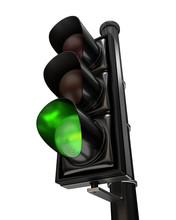 Close-up On A Traffic Light, T...
