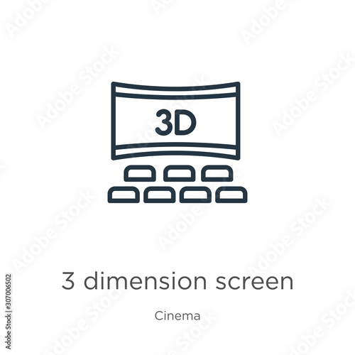 Photo  3 dimension screen icon