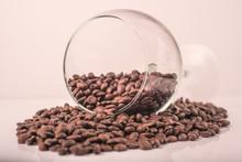 Turned Wine Glass With Coffee ...