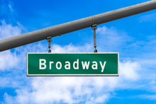 Broadway Street Sign Haning Fr...