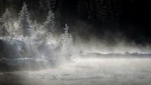 Mist Over River In Kootenay Na...