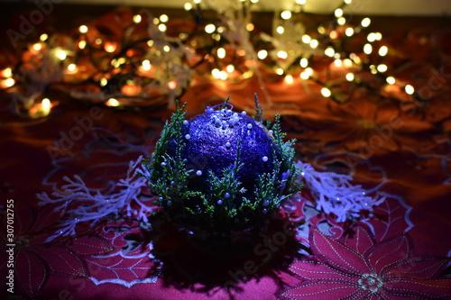 Obraz Bombka, święta, boże narodzenie, hand made - fototapety do salonu