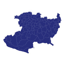 Michoacan High Quality Map Is A State Of Mexico