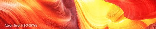 Foto auf AluDibond Rot Abstract background. Canyon Antelope, Colorful and famous slot Canyon. Travel concept.