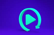 Green Video Play Button Like S...