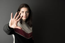 The Girl With A Gesture To Sto...